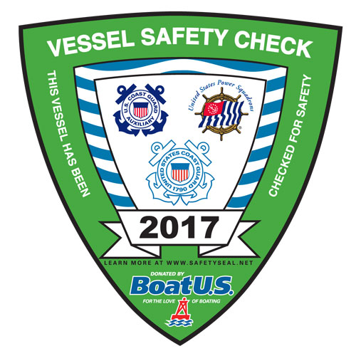 2017 Vessel Safety Check Decal